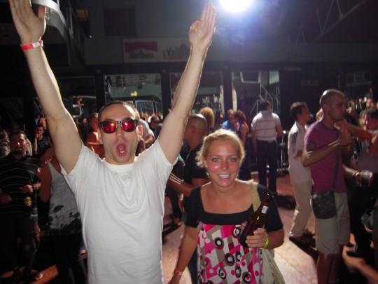 Dancing at a La Fortuna Discoteca