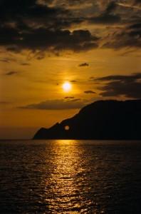 Sunset in Cinque Terre, Italy